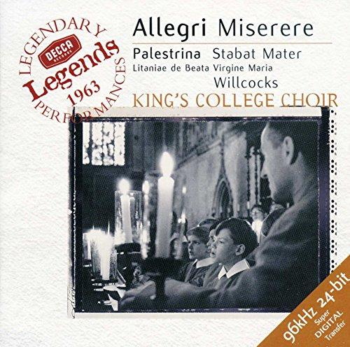 The Choir of King's College, Cambridge David Willcocks - Allegri: Miserere / Palestrina: Stabat Mate