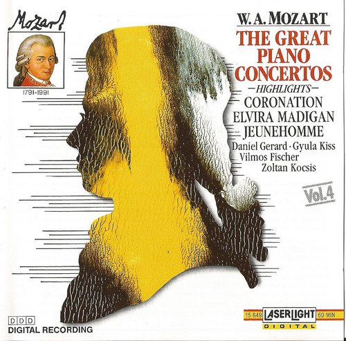 Gyula Kiss Mozart The Great Piano Concertos Vol 4 By