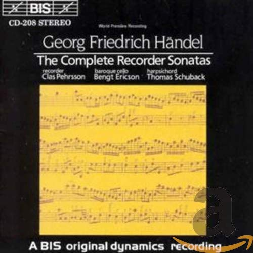 Handel: The Complete Recorder Sonatas