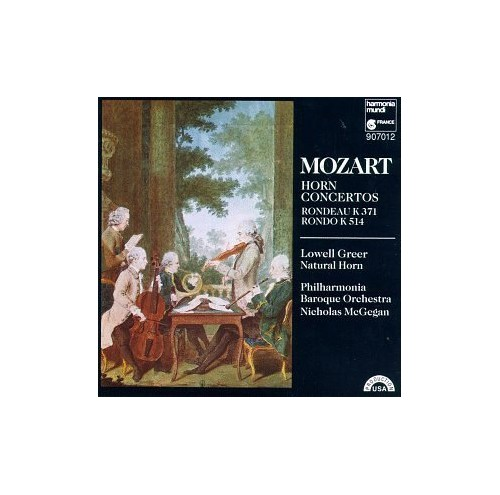 Phil.Baroque Orchest - Mozart;Horn Concertos By Phil.Baroque Orchest