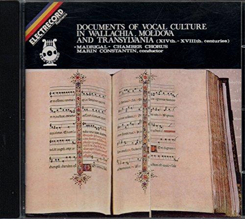 Vocal Culture in Wallchia, Moldova and Transylvania