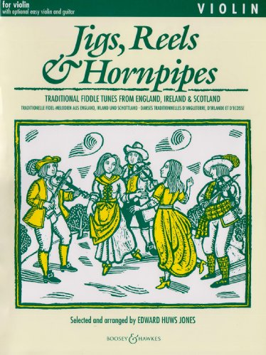 Jigs, Reels & Hornpipes - Traditional fiddle tunes from England, Ireland & Scotland - Fiddler Collection - violin (2 violins), guitar ad lib. By Edward Huws Jones