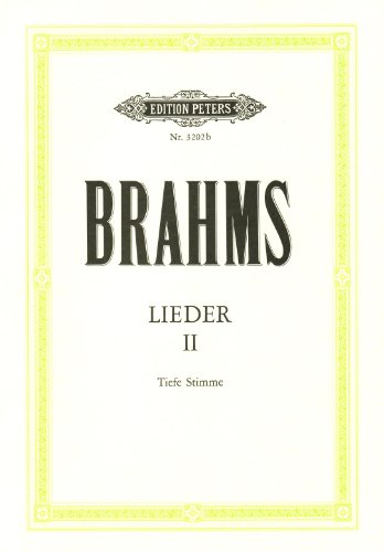 Lieder 2 Laag Chant By Johannes Brahms