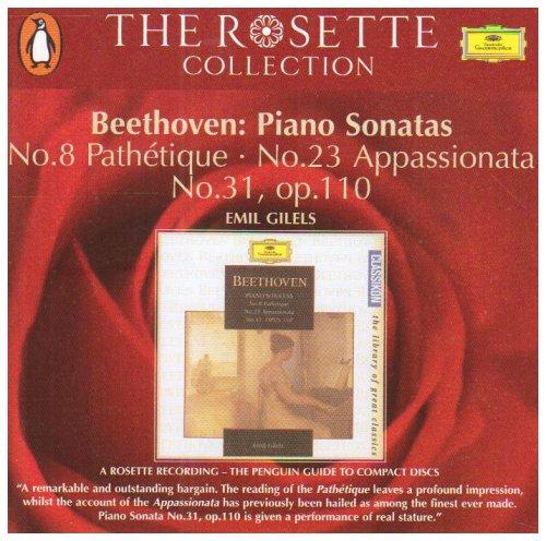 Beethoven, Piano Sonatas: No. 8 Pathétique / No. 23 Appassionata / No. 31, op. 110