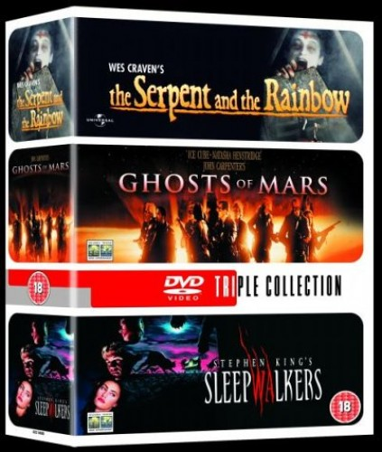 Sleepwalkers/Ghosts Of Mars/The Serpent And The Rainbow