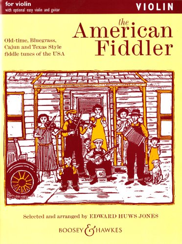 The American Fiddler - Old-time, Bluegrass, Cajun and Texas Style Fiddle Tunes of the USA - Fiddler Collection - violin (2 violins), guitar ad lib. By Edward Huws Jones