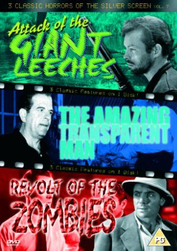 3 Classic Horrors Of The Silver Screen - Vol. 7 - Attack Of The Giant Leeches / The Amazing Transpar