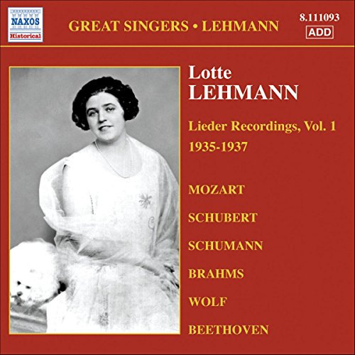 Lotte Lehmann - Lotte Lehmann, Vol. 1 By Lotte Lehmann