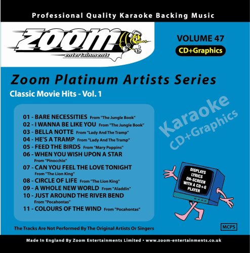 Zoom Karaoke - Zoom Karaoke CD+G - Platinum Artists 47: Classic Movie Hits 1