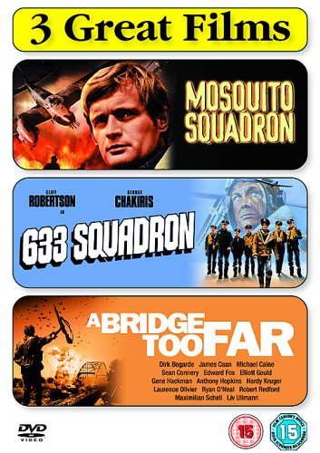 War Films Triple Pack : Mosquito Squadron / 633 Squadron / A Bridge Too Far (3 Disc Box Set)