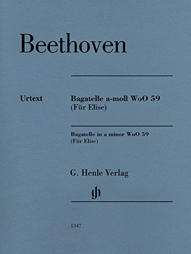 "For Elise"""" Piano Piece a minor  WoO 59 - piano - (HN 128) By Ludwig van Beethoven"