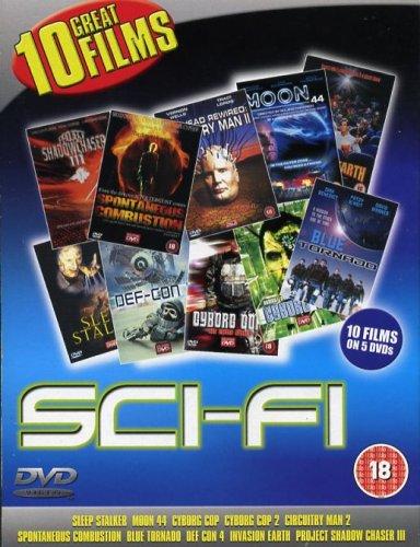 Science Fiction 10 Film DVD Box set, Invasion Earth / Moon 44 / Sleep Stalker / Blue Tornado / Def -
