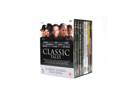 8 DVD SET: CLASSIC STORIES: NEW:BOXED:INC:MOBY DICK:THE ODYSSEY:21+HOURS