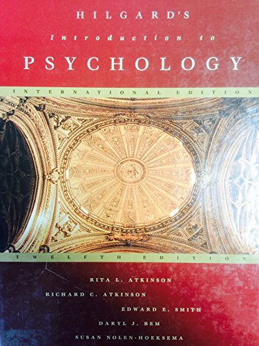 HILGARD'S INTRODUCTION TO PSYCHOLOGY By Rita L. Atkinson
