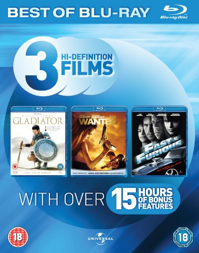 Blu-ray Starter Pack (Fast & Furious/Gladiator/Wanted)