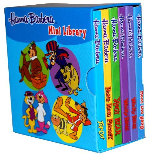 Hanna Barbera Pocket Library 6 Board Books Collection Set (Pocket Library) (Meet the Gang, Wacky Races, Wacky Races, Yogi Bear, Hong Kong Phooey, Top Cat)