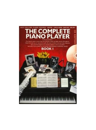 The Complete Piano Player Book 1 - CD Edition By Kenneth Baker