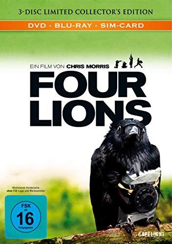 Four Lions (BR+DVD) Limited CE Mediabook Min: 102DD5.1WS 1BD+1DVD+1Bonus-Disc