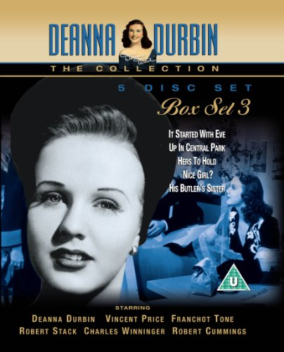 Deanna Durbin Box Set 3 (DVD) - It Started With Eve, Up In Central Park, Hers to Hold, Nice Girl? an