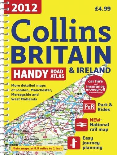 Collins Handy Road Atlas A5 Britain and Ireland Wire Bound Ref 9780007427390 Each