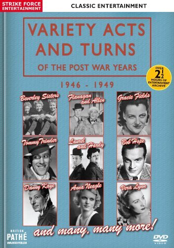 Variety Acts and Turns of the Post War Years 1946-1949