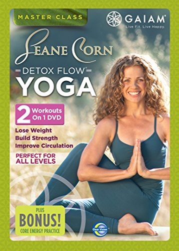 Gaiam-Seane-Corn-Detox-Flow-Yoga-DVD-CD-42VG-FREE-Shipping