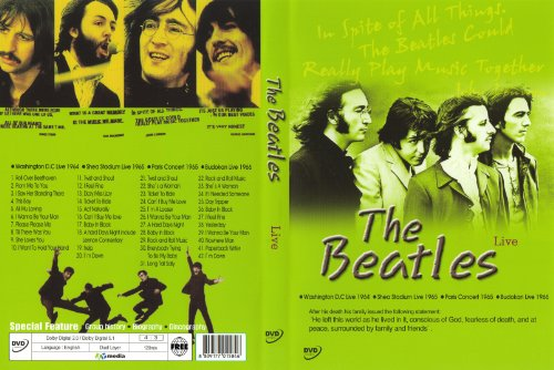 The Beatles Live Full Concerts Dvd Shea Stadium Washington D C Cd 2wvg 8809177015846 Ebay