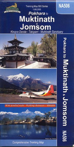 Trekking Map NA 506 Jomsom to Muktinath By Team of Himalayan Map house