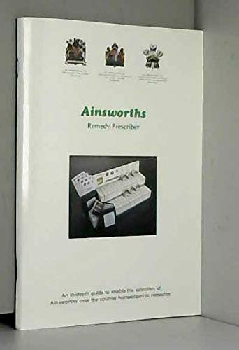Ainsworths Remedy Prescriber By Ainsworths