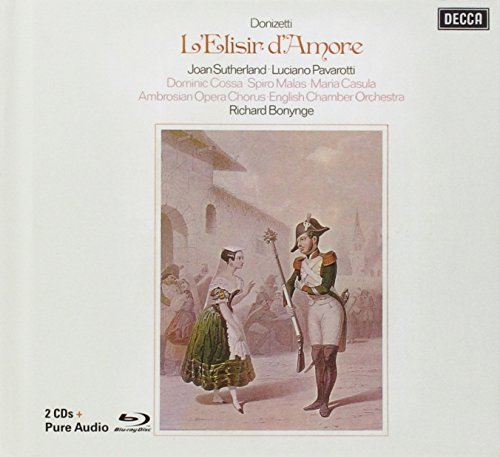 Richard Bonynge - Donizetti: L'Elisir d'amore (Remastered edition with libretto + Blu-Ray Audio disc