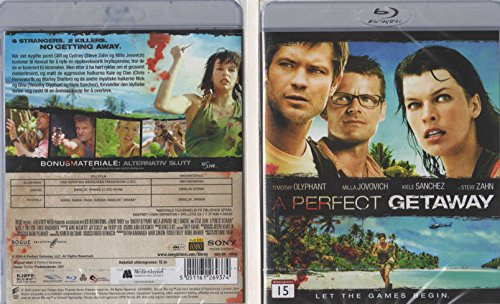 A PERFECT GETAWAY (BLU-RAY) **NORDIC IMPORT** UK COMPATIBLE WITH ENGLISH SOUND **NEW & SEALED**