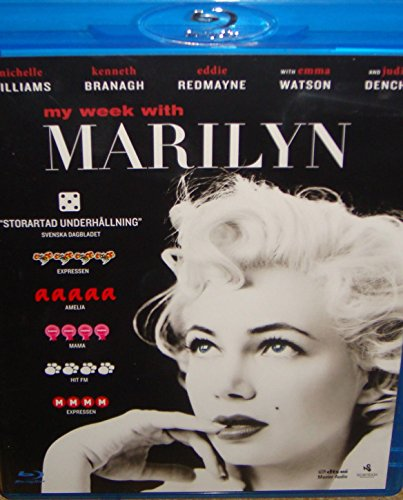 My Week with Marilyn (BLU-RAY) **REGION B** SWEDISH IMPORT WITH ENGLISH SOUND AND UN-REMOVABLE SUBTI