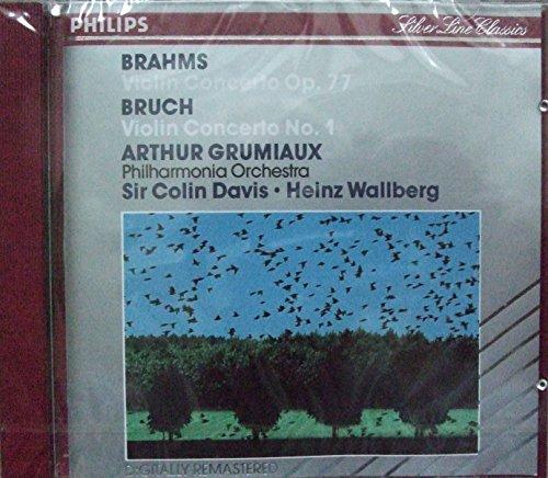 Arthur Grumiaux - Brahms Violin Concerto Op77, Bruch Concerto No 1 ...
