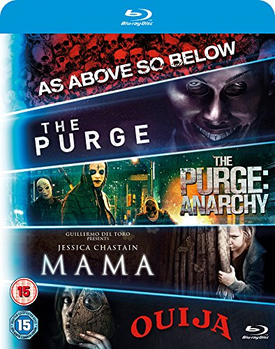 Blu ray 5-Movie Starter Pack: Mama/The Purge/Purge: Anarchy/OUIJA/As Above, So Below  [2015