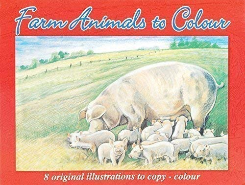 Pig Farm Animals To Colour A4 Advanced Quality Colouring Book