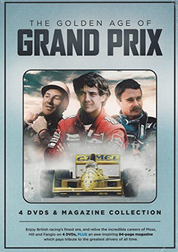 The Golden Age of Grand Prix 4 DVD's & Magazine Collection