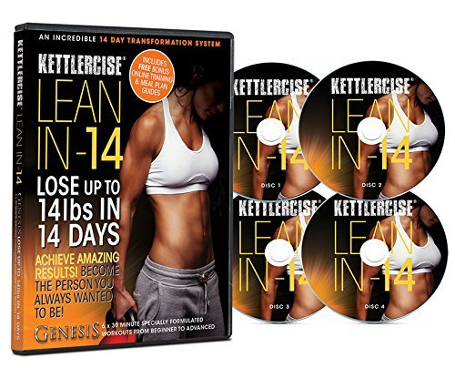 Kettlercise Lean In 14, 4 Disc DVD Collection - New Kettlebell Transformation Program for Beginners