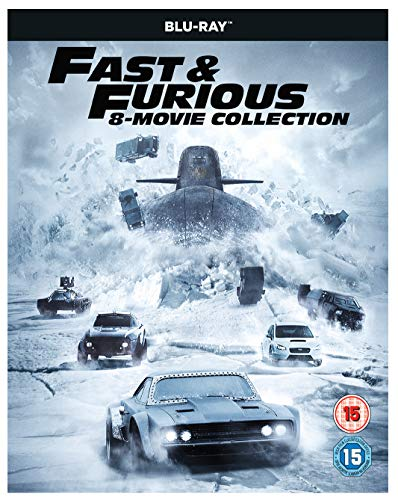 Fast & Furious 8-Film Collection (1-8 Boxset) BD + digital download