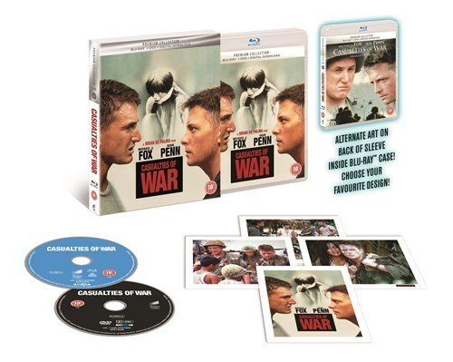 casualties of war UK Premium Collection Blu-Ray + DVD + Digital HD + Ltd Ed Art Cards Region Free