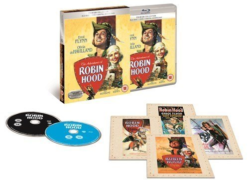 The Adventures of Robin Hood Bluray +Dvd + digital Download Exclusive The Premium Collection Extende