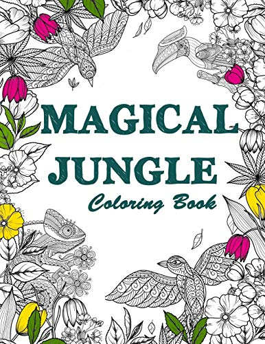 Magical Jungle Coloring Book By Harry M Riddles