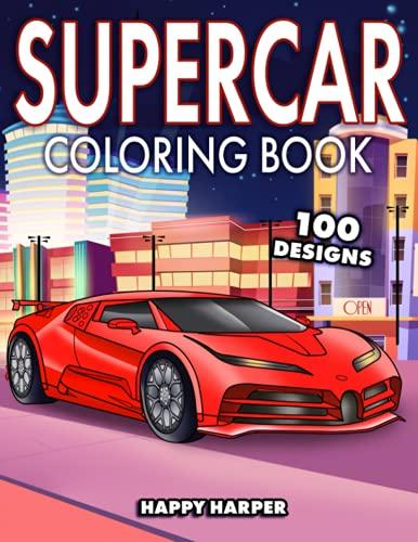 Supercar Coloring Book By Happy Harper