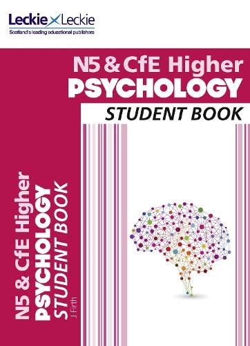National 5 & CFE Higher Psychology Student Book by Jonathan Firth