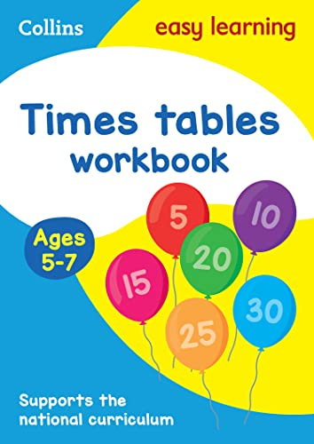 Times Tables Workbook Ages 5-7: New Edition (Collins Easy Learning KS1) by Collins Easy Learning
