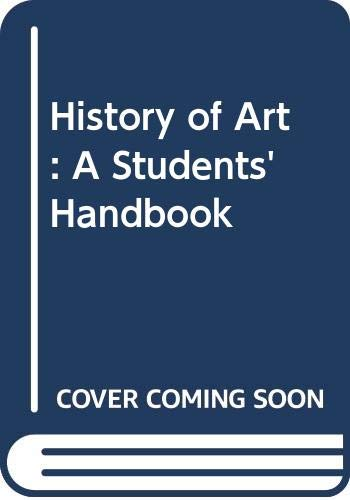 History of Art: A Students' Handbook by Marcia Pointon