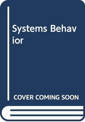 Systems Behaviour by John Beishon