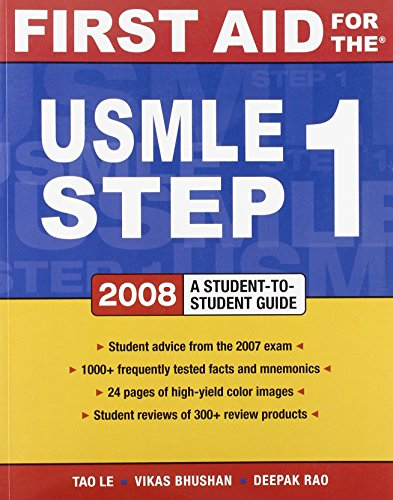 First Aid for the USMLE Step 1 2008 by Tao Le