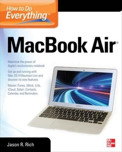 How to Do Everything MacBook Air by Jason R. Rich