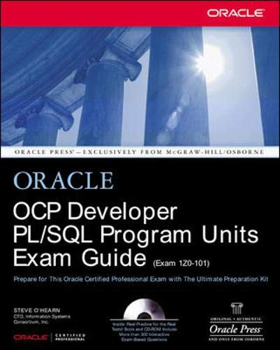 OCP Developer PL/SQL Program Units Exam Guide by Jason Couchman