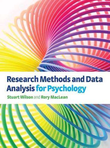 Research Methods and Data Analysis for Psychology by Stuart Wilson